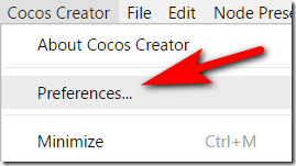 Cocos Creator Preferences - Devga.me Tutorial