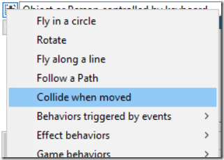CopperCube 6 - Collisions and Physics - Collide when moved