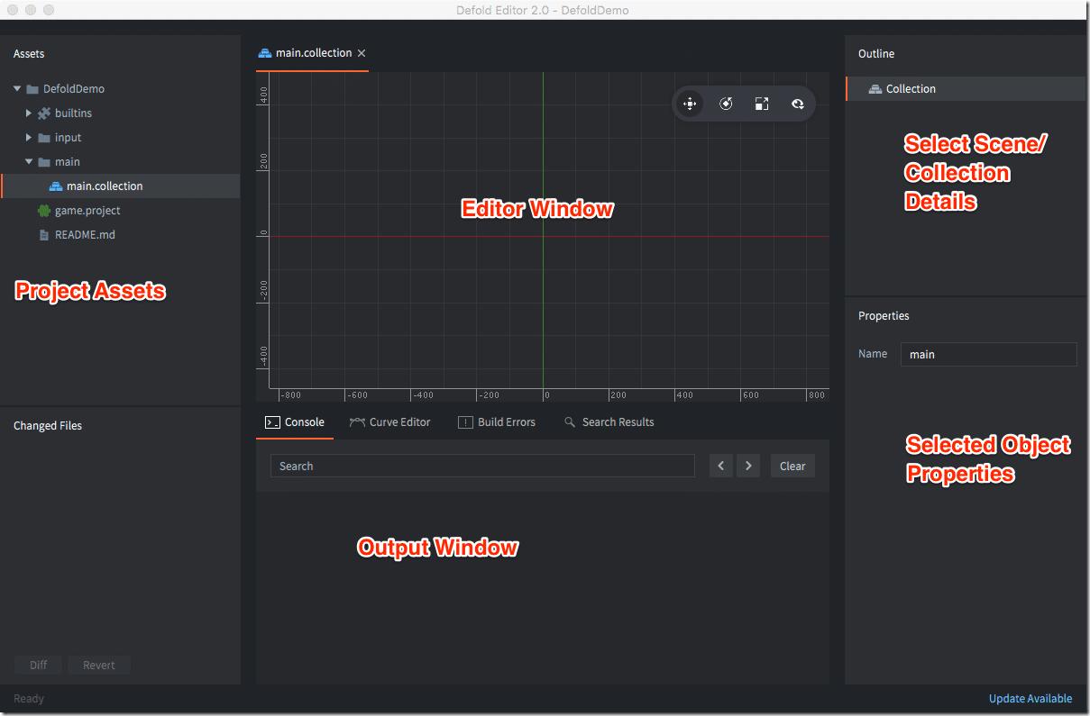 Defold Editor Screenshot