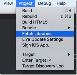 Fetch defold library