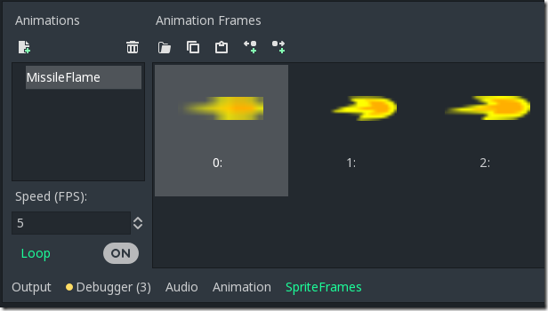 Animation-Frames in Godot Game Engine