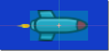 Bullet-results-with-Area2D Godot Screenshot