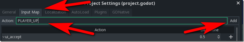 Creating-an-Input-Map in Godot Game Engine