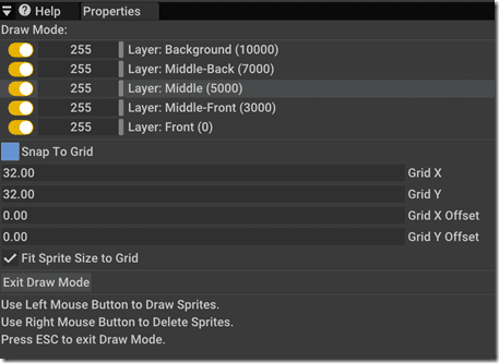 AppGameKit Layer and Snapping Details