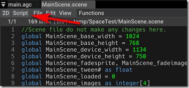 AppGameKit Code Editor