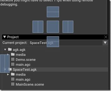 AppGameKit rearrange tabs in editor