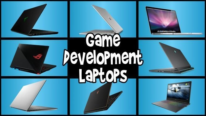 game development laptops in a 3x3 grid