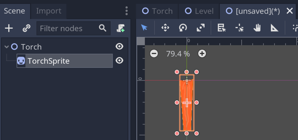 Creating a Torch level in Godot
